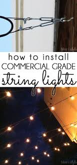 commercial outdoor string lights best of how to hang patio string lights diy ideas