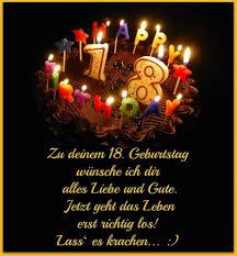 Zu Deinem 18 Geburtstag Wünsche Ich Dir Alles Liebe Und Gute 18