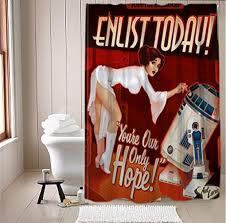 star wars propaganda shower curtain technabob