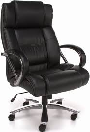 brown leather office chair. ofm avenger big and tall high back executive chair [810-lx] -1 brown leather office y