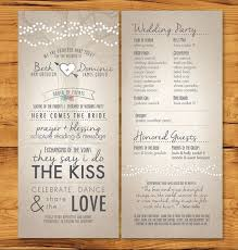 24 Things To Know About Wedding Order Of Ceremony Program