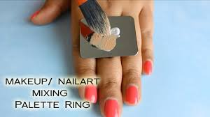 review demo makeup nail art mixing palette ring ft enjoyours