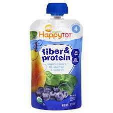 <b>Happy Tot Fiber &</b> Protein Organic Pears Blueberries Spinach - 4oz ...