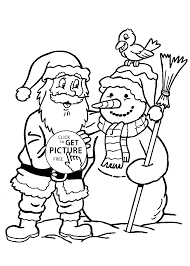 Small Picture Claus and snowman coloring pages for kids printable free