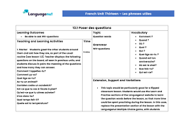 Preschool French Resources: Prepositions And Conjunctions