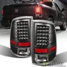 2009 2018 Dodge Ram 1500 2500 3500 Pickup Led Tail Lights Black Lamps Left Right Dodge Ram 1500 Accessories Dodge Ram 1500 Dodge Ram