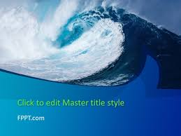 wave powerpoint templates free big wave powerpoint template free powerpoint templates