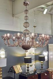 italian murano amethyst glass chandelier with 12 branches rewired for the us very clean