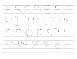abc tracing sheet gallery of letters sheet