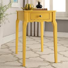 Amazon.com : INSPIRE Q Daniella 1-Drawer Wood Storage Accent Classically  Styled Yellow Side Table Made in Rubberwood and Birch Veneer : Garden &  Outdoor