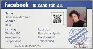 زوكربيرج Card تحمل بطاقة لحسابك توقيع الفيسبوك Id على مارك Facebook أحصل