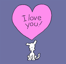 i love you hearts gif by chippy the dog