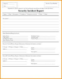 Security Incident Report Template Word Inspirational Product