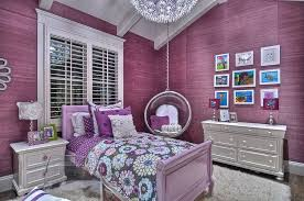 purple modern bedroom designs. Contemporary Kids Bedroom With Bed, Hanging Bubble Chair, Polka Dot Sheet Set, Interior Purple Modern Designs E