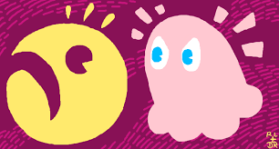 Image result for pacman and pinky