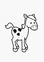 Kleurplaten Van Paarden Afbeelding Kleurplaat Paard