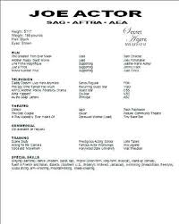 Musical Theater Resume Template