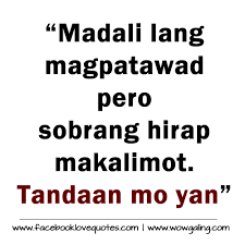 Tagalog Love Quotes Awesome Patama Tagalog Sad Love Quotes