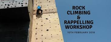 rock climbing rappelling workshop with adventure pulse on artificial rock climbing wall in pune with rock climbing rappelling workshop with adventure pulse register