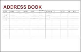 Address Book Template Free Template Free Phone Book Directory Excel Contact List