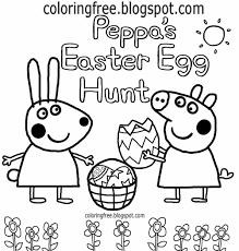 cheerful clipart peppa s easter egg hunt peppa pig drawing for nursery kids easy coloring book pages