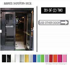 Door Vinyl Design Storefront Use Other Door Right Arrow Set Of 2