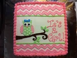 Babyshowergirlowlcaketopper  Sweet Memories BakeryOwl Baby Shower Cakes For A Girl