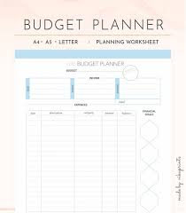 Monthly Budget Planning Budget Planner Printable Budget Worksheet Budget Tracker Printable Budget Template Monthly Budget