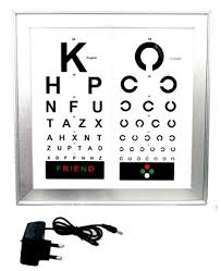 Eye Care Products Delhi Led Vision Chart With 2 Languages