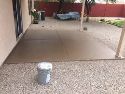 picture of a recent outdoor patio floor by barefoot in scottsdale