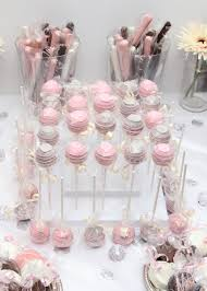 Bubbles And Bliss Bridal Shower Pink And Grey Cake Pops