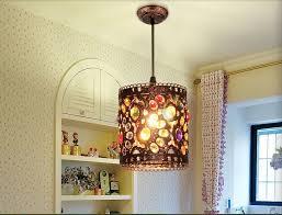 free shipping d120mm crystal pendant lamps lighting 1 head bohemian iron bar pendant light colorful crystal pendant light bohemian lighting
