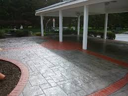 decorative concrete stamped patio overlay a21