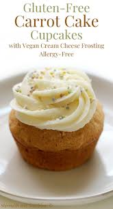 Gluten Free Carrot Cake Cupcakes With Vegan Cream Cheese Frosting