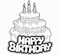 Small Picture Top 95 Birthday Cake Coloring Pages Tiny Coloring Page