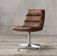 elegant desk chair modern chairs quality interior pleasing for office with additional leather armless slipstick casters