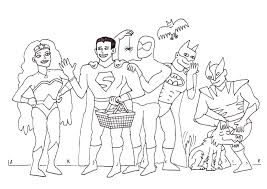 Superhelden Kleurplaat
