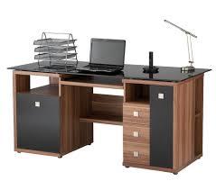 modular solid oak home office furniture. Solid Oak Wood Drawer Black Glass Tops Modular Home Office Desk. Cute Furniture G