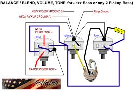 custom jazz bass mod master volume master tone and balance control