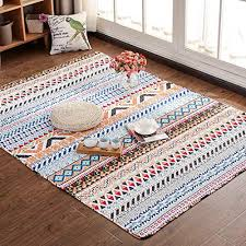 giy bohemian living room area rug soft colorful striped rectangular carpets children crawling bedroom rug non slip mats home decor outdoor indoor runners 2