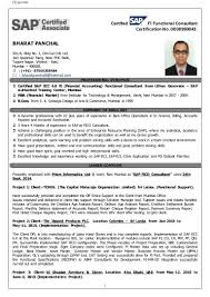 Sap Bpc Resume Samples Sap Bpc Resume Samples Experience Fico Consultant And Freshers 12