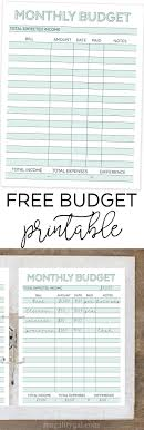 simple printable budget worksheet free printable monthly budget planner worksheet