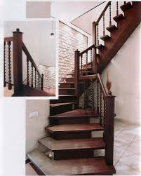 Wondrous Wooden Modern Stairs With White Brick Wall Exposed Also White  Ceramic Floors As Inspiring Natural Interior Decors Ideas