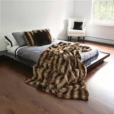 best home fashion faux fur throw blanket with platform bed and bedding also wingback chair