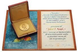 John Nash Design Thinking John Nashs Nobel Prize Sells For 735 000 Smart News