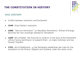 the english constitution ppt  the constitution in history