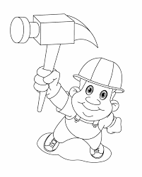 Small Picture Labor Day worker Free Printable Coloring Pages