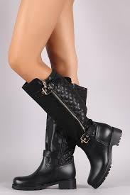 Quilted Zipper Trim Knee High Rain Boots – Rich Girl's Closet & ... Quilted Zipper Trim Knee High Rain Boots ... Adamdwight.com
