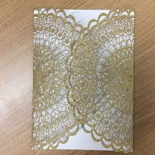 Golden Invitation Card Design Us 66 3 15 Off Fancy Wedding Invitation Card In Glitter Paper Gold And Silver Lace Vintage Wedding Cards Greeting Cards Designs For Wedding In Cards