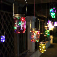 multi color outdoor solar jar design. Image Is Loading 10LED-Solar-Power-Auto-Hanging-Glass-Jar-Lamp- Multi Color Outdoor Solar Jar Design N